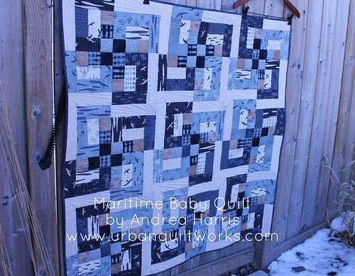 maritime baby quilt