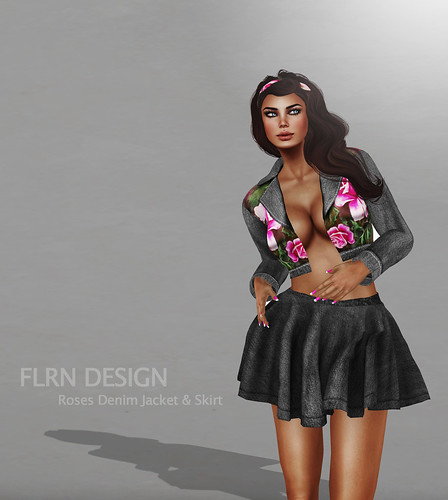 Roses Denim Jacket & Skirt by ~ ✫ FLRN BABY'S & FLRN DESIGN ✫ ~