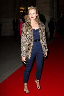 Diane Kruger Leopard Print Coat Celebrity Style Women's Fashion