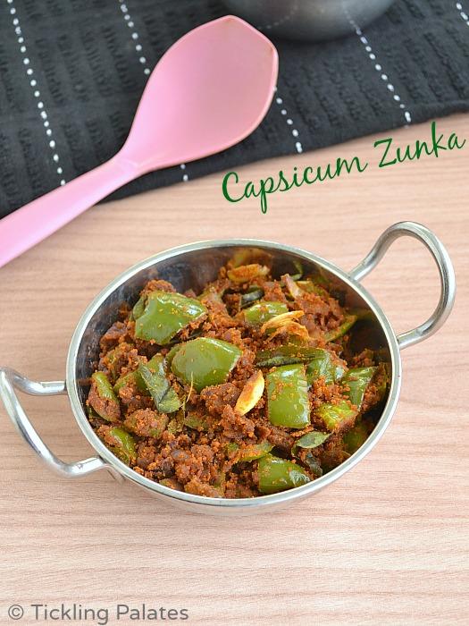 Capsicum Zunka Recipe