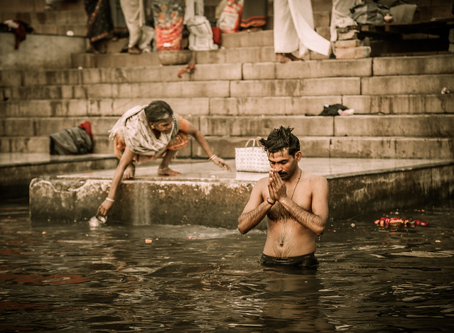 Prayer in the Ganges