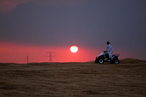sunset dubai desert uae