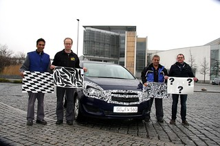 Das Opel-Tarnteam um Andreas Kubis (rechts) mit Meriva