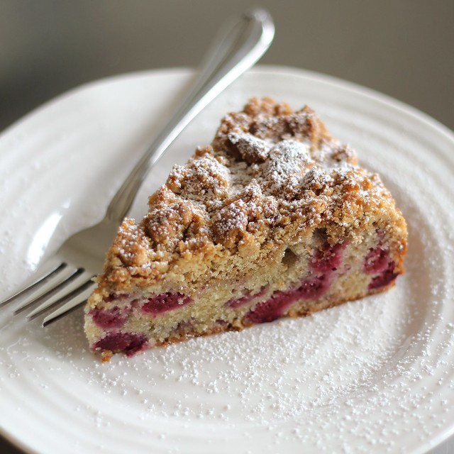 Raspberry Crumb Cake (Gluten-free)