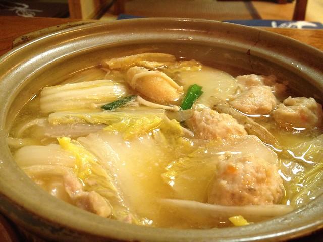 鶏たたき鍋@相撲茶屋 恵大苑