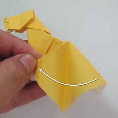 สอนวิธีพับกระดาษเป็นรูปลูกสุนัขยืนสองขา แบบของพอล ฟราสโก้ (Down Boy Dog Origami) 106