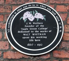 Photo of Walt Whitman black plaque
