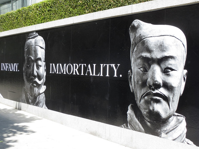 Immortality, Chinese Terracotta Soldier Signage by Sherrie Thai of ShaireProductions.com
