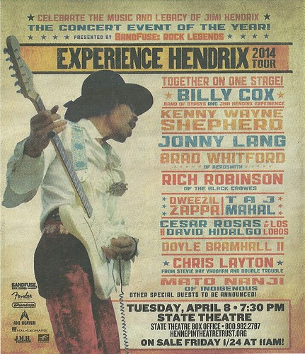 04/08/14 Experience Hendrix Tour 2014 @ State Theater, Minneapolis, MN