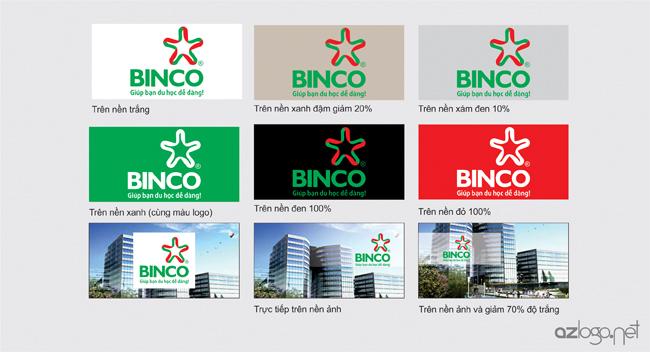 Quy định về môi trường sử dụng logo BINCO