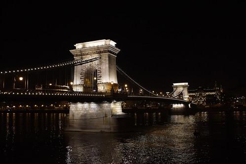 city bridge night river lights evening hungary sony capital budapest explore danube donau chainbridge explored sonya77 sonyalphaa77