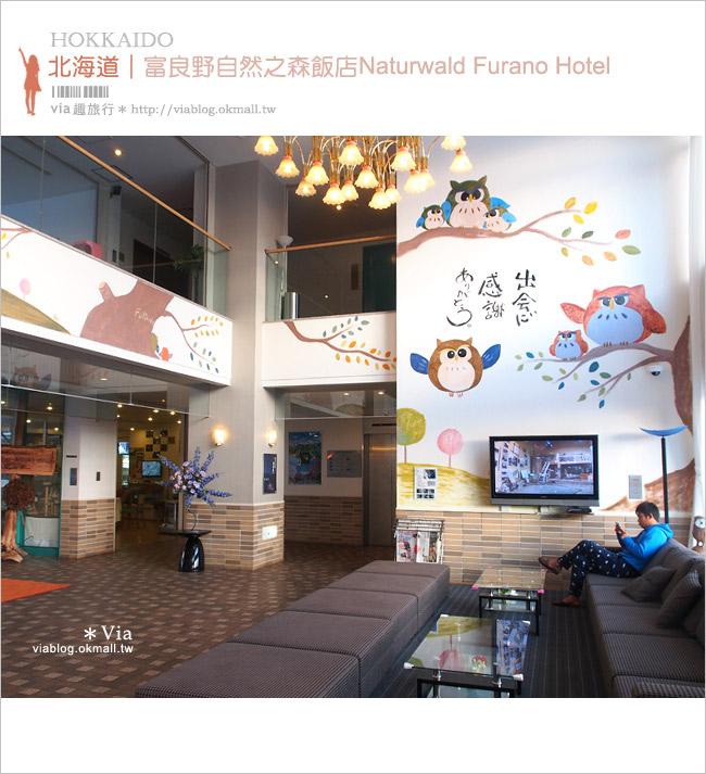 【富良野住宿推薦】富良野自然之森(Naturwald Furano Hotel)~有貓頭鷹的可愛飯店!