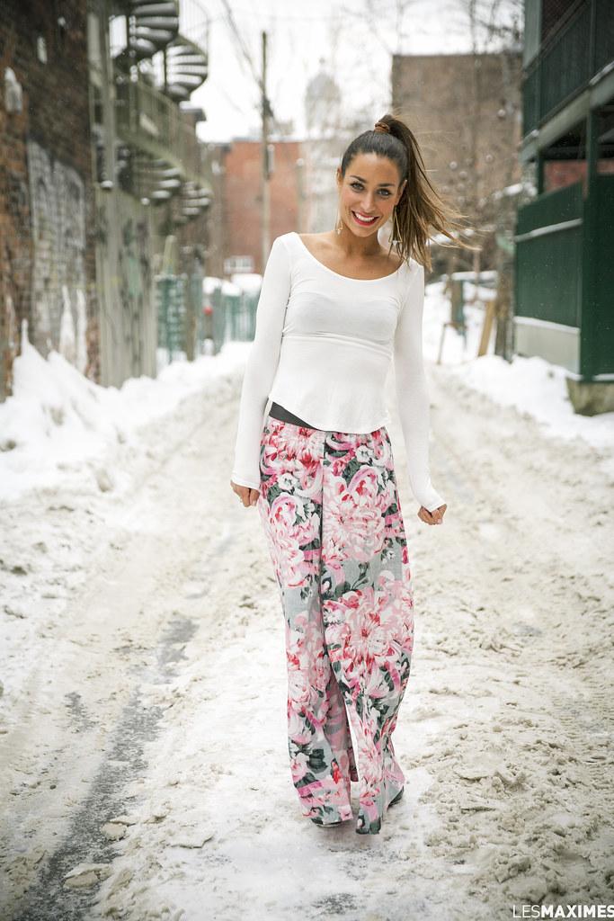 pantalon fleuri, montréal, boutique onze, wellDunn