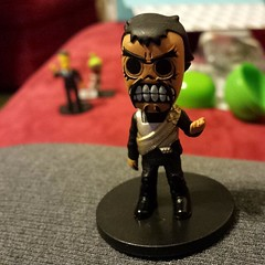 Day of the dead skeletal klingon looking for like style kirk and borg. Thanks, #nerdblock !