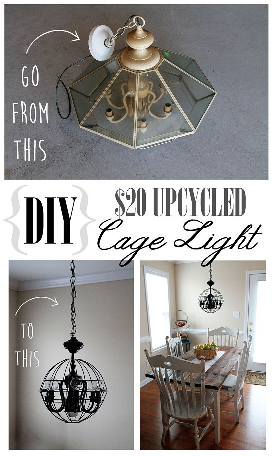 DIY Cage Light Upcycle Contributors Brooklyn Limestone