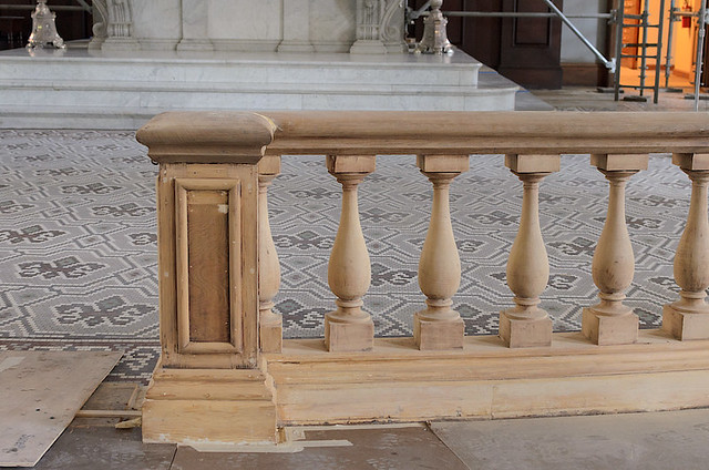 Basilica of Saint Louis, King of France (Old Cathedral), in Saint Louis, Missouri, USA - renovation photos - communion rail