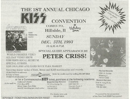 12/05/93 1st Annual Chicago Kiss Conventiom @ Holiday Inn, Hillside, IL