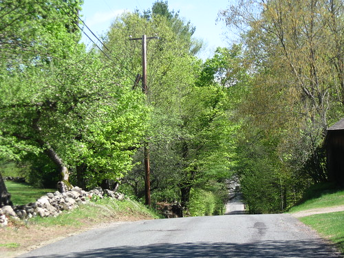 image of a hilly road on a sunny day