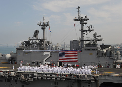 SAN DIEGO (NNS) -- A change of command ceremony was held aboard USS Essex (LHD 2), where Capt. Peter M. Mantz relieved Capt. Joker L. Jenkins as Essex's commanding officer.
