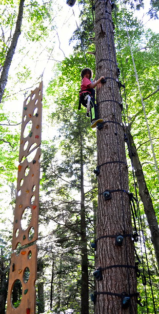 tree climbing obstacle course 2 - Arbor Trek Smugglers Notch, Vermont