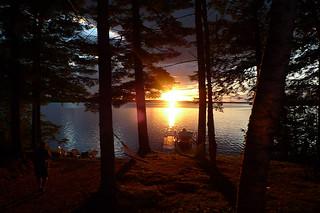 Maine - Lake Pushaw beauty sunset