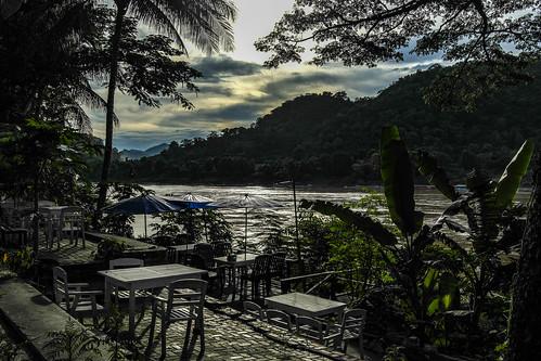 mekong laos asia luangprabang sunset luangprabangprovince la
