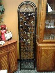 Locking wine rack.