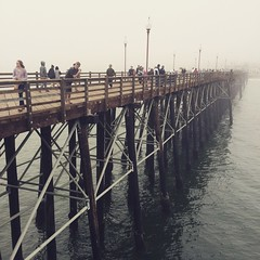 Foggy afternoon in Oceanside.