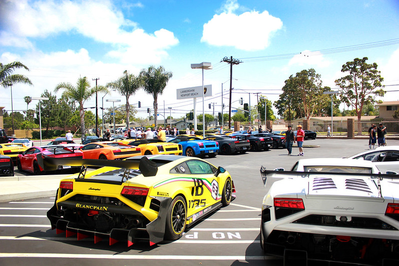 Lamborghini Newport Beachu0027s 50th Anniversary SoCal Tour