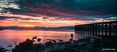 newark pier sunset