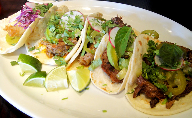 Fish, Lamb and Beef Tongue Tacos