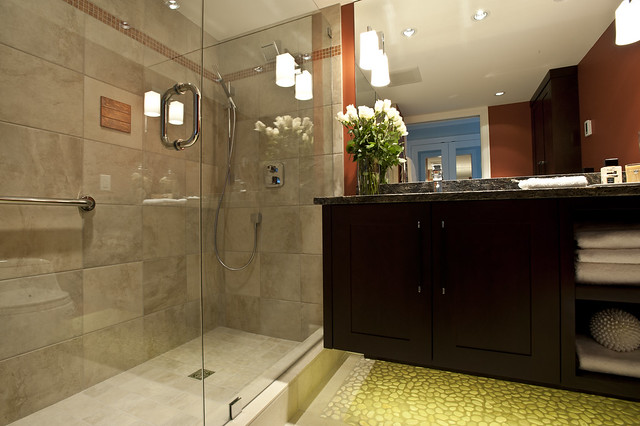 bathroom design, custom shower, vancouver interior design