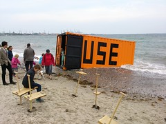 Container and spade furniture
