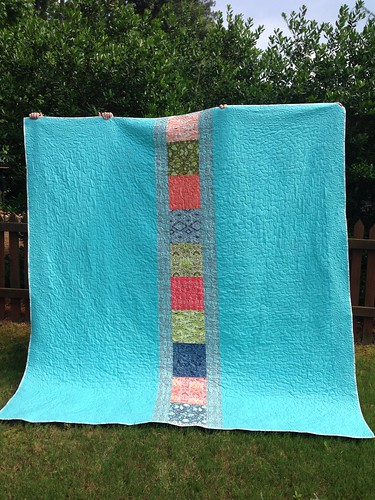 Sailboat quilt back