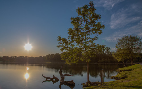 trees sunset lake water landscape unitedstates northcarolina hdr highdynamicrange gastonia rankinlakepark gastoncountypark