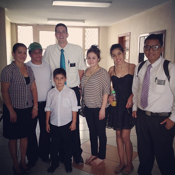Recently baptized family - such a pleasure to meet them!