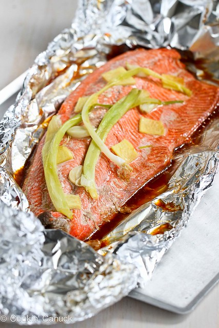 Easy Grilled Salmon Recipe in Foil with Ginger & Soy Sauce ...