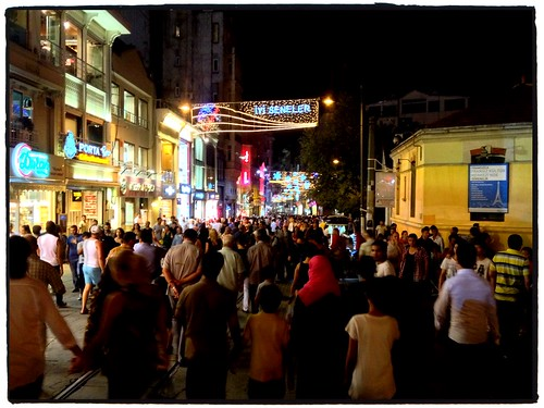 World famous Istiklal St. in Istanbul by tf_82
