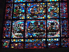 Rouen cathedral - stained glass last supper