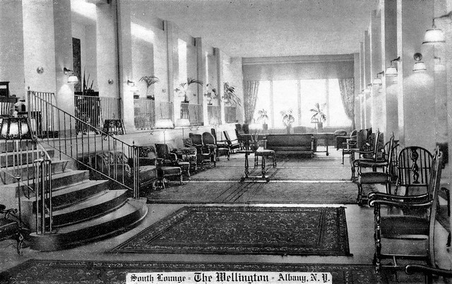 Wellington Hotel Interior  State St.  Albany NY 1920s