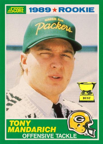 Baseball Card Bust Tony Mandarich 1989 Score Football Friday No 193