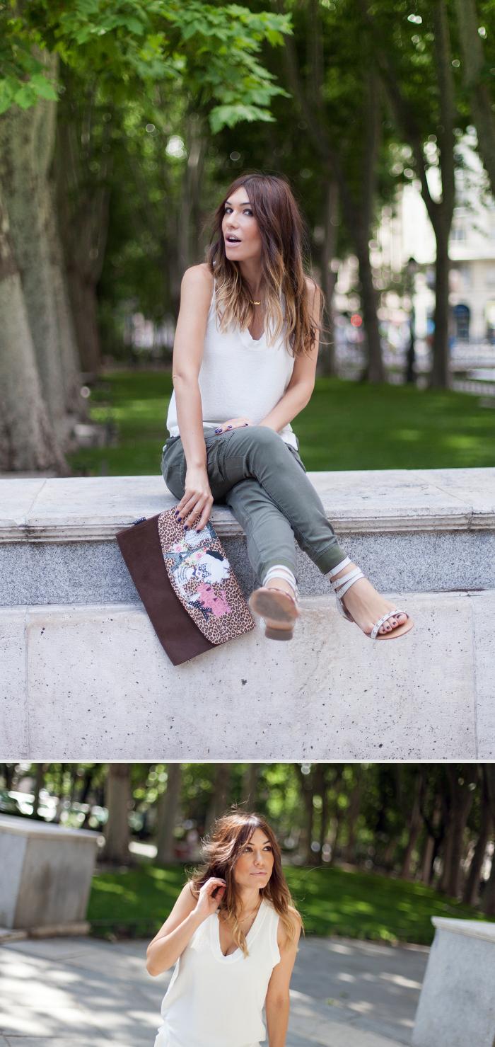 street style paseo del prado madrid barbara crespo outfit zara
