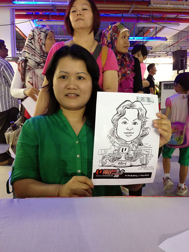 caricature live sketching for NTUC U Grand Prix Experience 2013 - 42