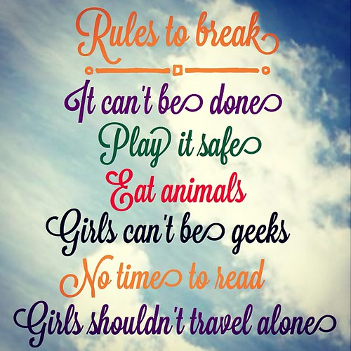 #30lists #day6 #rulestobreak
