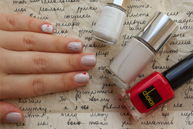 01 love letter clinique concrete jungle + mavala white