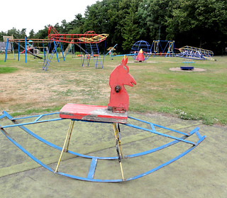 RockingHorsVintage playground with rocking horsee