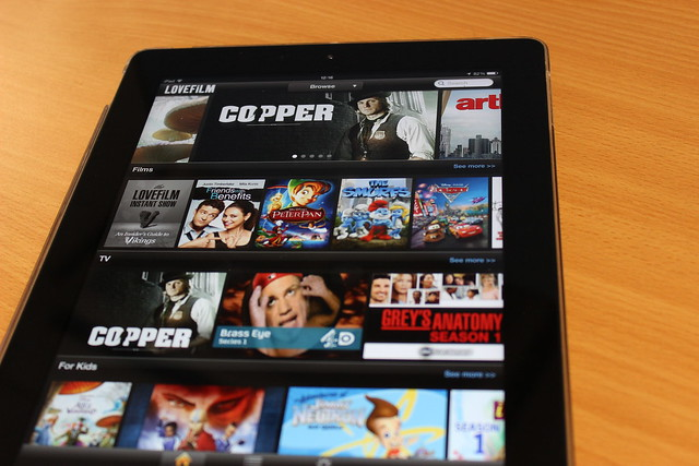 LoveFilm on an iPad