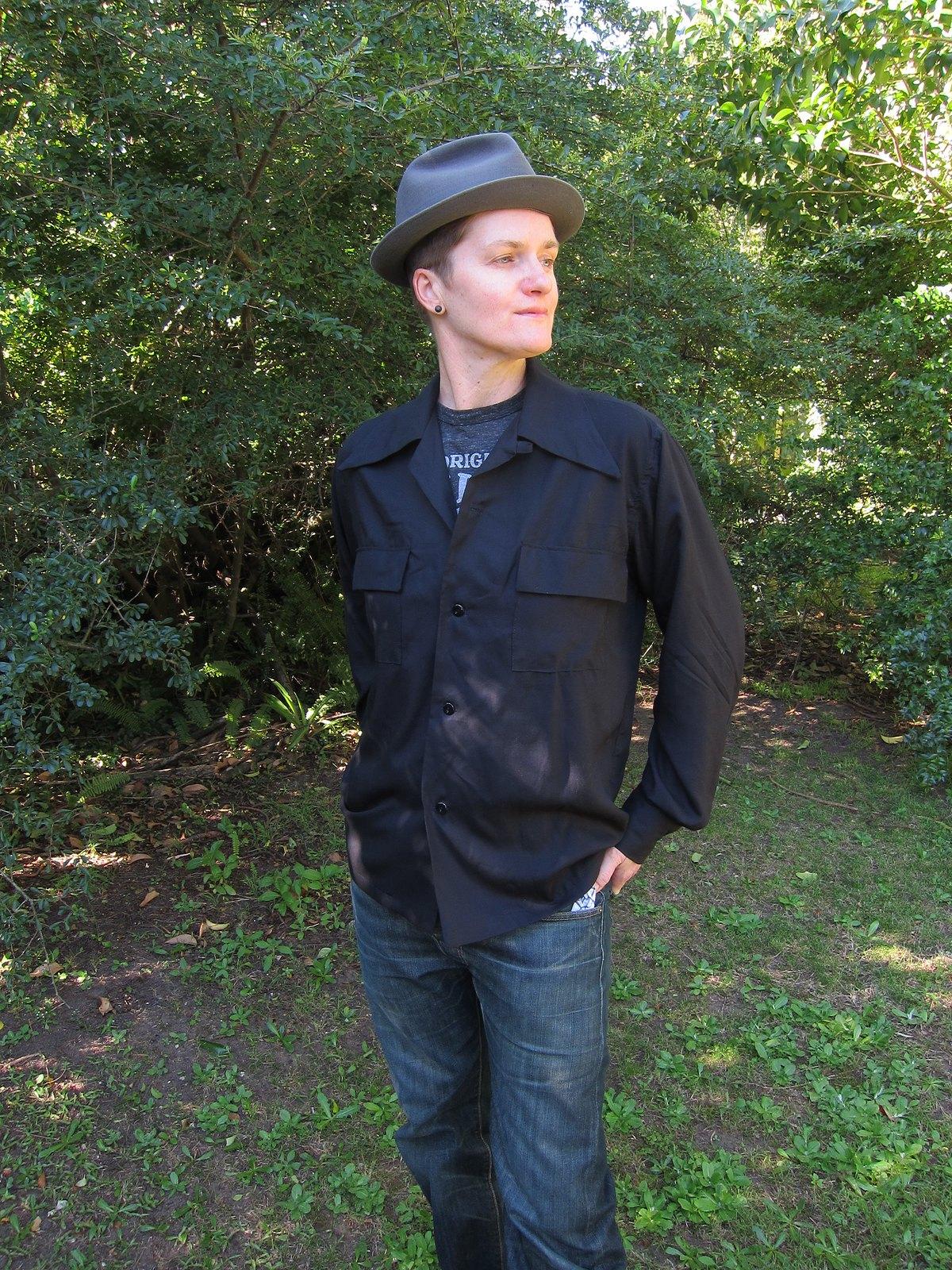 boi dyke vintage lesbian 1950s 1940s butch shirt rayon