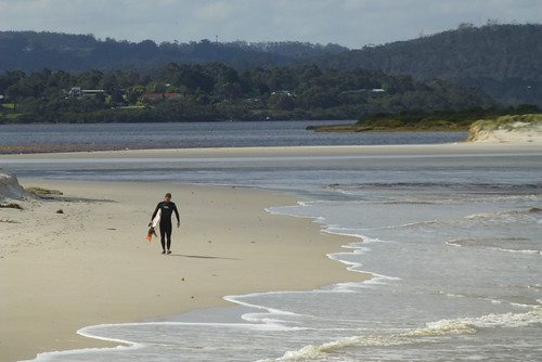 Lone surfer, Ocean Beach