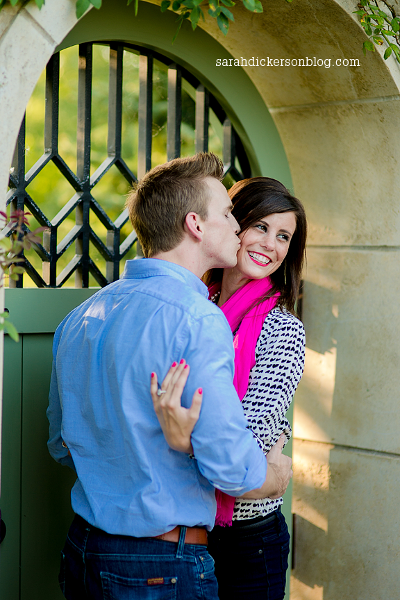 Kauffman Gardens engagement session